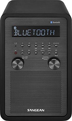 Sangean WR-50 FM-RBDS/AM/Bluetooth Wood Cabinet Table Top Radio