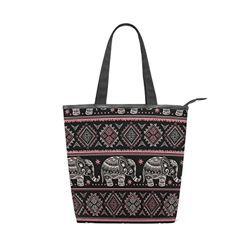 Ethnic Tote Tribal African Handbag Canvas Shoulder Womens Bag MyDaily Elephant YdqwRY