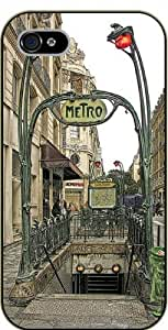 iPhone 6 Vintage metro - black plastic case / Paris, France by SHURELOCK TM