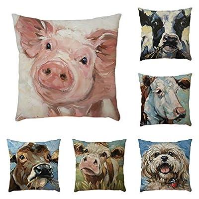 FORUU Throw Pillowcase, Animal Pattern Pillowcase Pillow Case Covers Cushion Sofa Home Car Decor