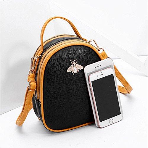 Giallo moda casual Borsa Colore GRIGIO Taglia tracolla tracolla a casual borsa Nero M a tracolla femminile moda a RnwRTqz7xr