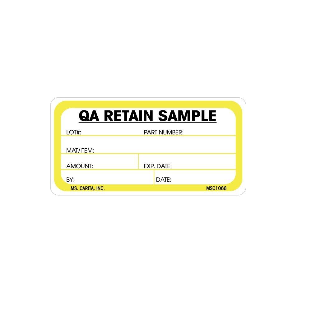 Amazon.com: QA Retain Sample Labels - 1.5 Inch x 3 Inch 500 per ...