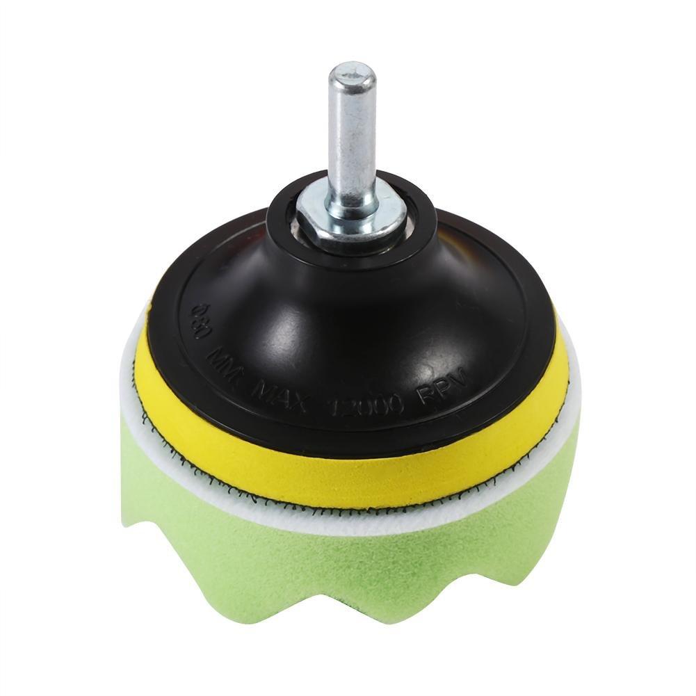 19 Pcs 3 inch Sponge Buff Polishing Pads Set For Car Polisher /& Waxing M10 Drill Adapter