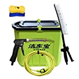 Roscloud@ car washing machine 12V portable high-pressure car home cleaning machine car wash water gun Foam kit brush car artifact Electric Water Gun Brush Pump (Color : A, Size : 28L)