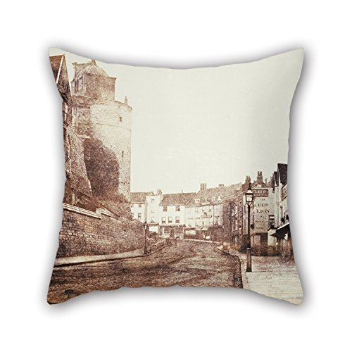 Slimmingpiggy Oil Painting Arthur James Melhuish - Thames Street, Windsor Throw Pillow Case 16 X 16 Inches / 40 By 40 Cm Gift Or Decor For Dinning Room,lounge,saloon,club,chair,wedding - 2 Sides