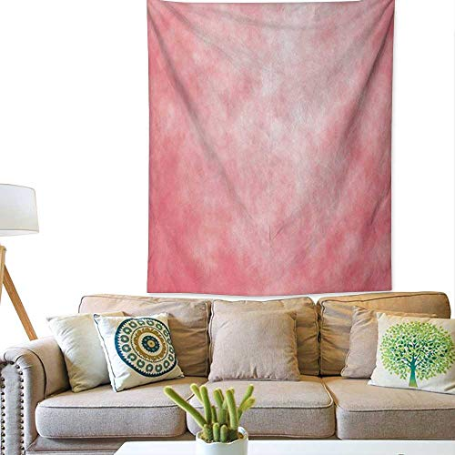 bybyhome CoralSimple tapestryPale Spring Watercolor Design Girlish Tie Dye Abstract Color Texture ImageBig Tapestry 54W x 84L INCHCoral Peach Salmon