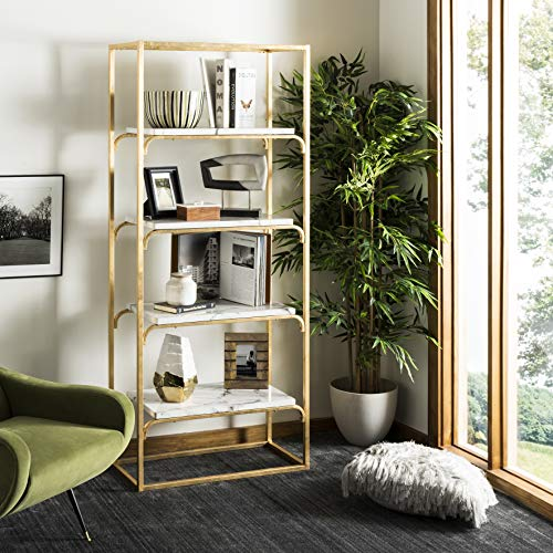 (Safavieh ETG6200A Home Collection Fiora 4 Tier Etagere Gold and White)