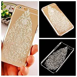 LCJ White Tree Pattern Transparent Back Case for iPhone 6 Plus