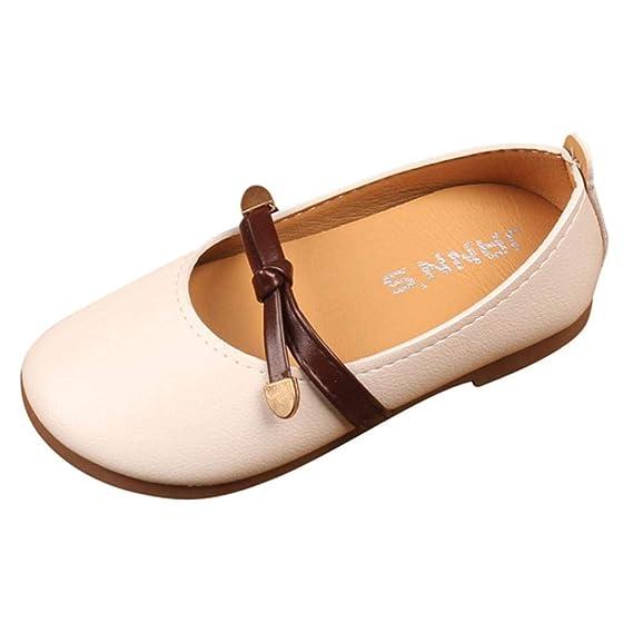 ZODOF Niños Niños Niñas Sólido Tie Cuero Shallow Princess Single Casual Shoes Vintage Calzado Deportivo Ligero y Transpirables para Unisex Niños: Amazon.es: ...