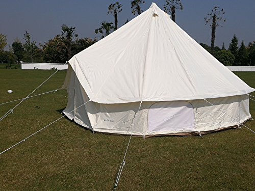 DANCHEL Four-Season Waterproof Glamping Tent, 16.7ft Dia