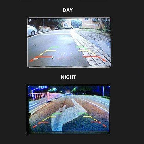 Selezione Vista Normale//Speculare REARMASTER Telecamera Auto Retromarcia Universale HD visione notturna backup Due metodi di installazione linea guida ON//OFF