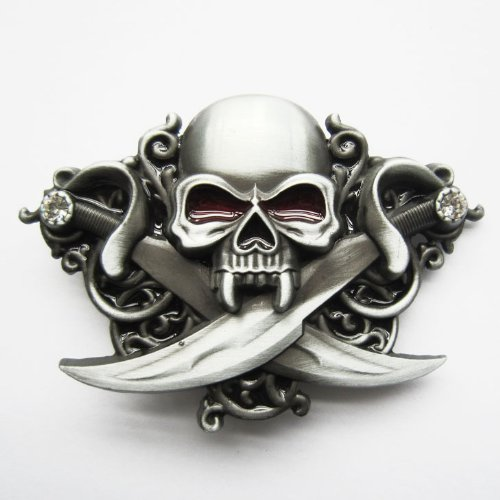 (Letter of Marque Pewter Pirate Belt Buckle by Alchemy Gothic )