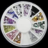 Accessories for beautiful nails 3D New Hot Nail Art Rhinestones Glitters Acrylic Tips Decoration Manicure Wheel#6