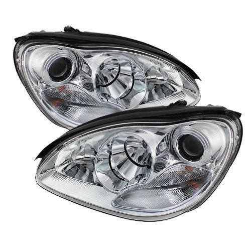 Spyder Auto (PRO-YD-MBW220-HID-C) Mercedes-Benz S-Class Chrome Xenon/HID Projector Headlight