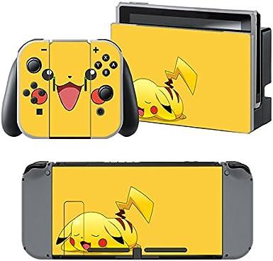 Pokemon Pikachu - Pegatina Nintendo Switch - 1 Pegatinas de Consola , 2 Pegatinas de Mandos Joy Con, 2 Pegatinas Dock y 1 Pegatina Mando.: Amazon.es: Videojuegos
