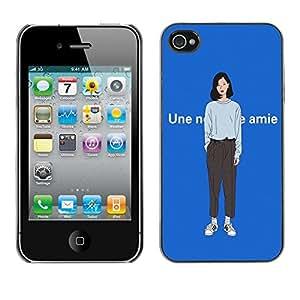 Dragon Case - FOR iPhone 4 / 4S - you can do it - Caja protectora de pl??stico duro de la cubierta Dise?¡Ào Slim Fit