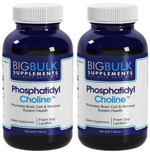 Phosphatidylcholine Favorise cerveau et du système de santé en bloc nerveux Big suplements lécithine de soja 400mg 140mg gélules phosphatidylcholine 360 2 Bouteilles
