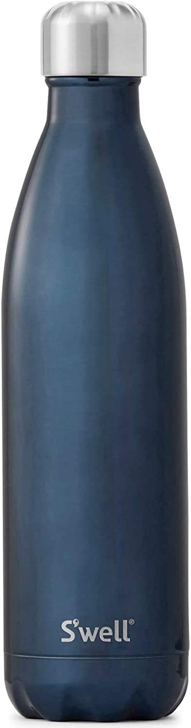 S'well Vacuum Insulated Stainless Steel Water Bottle, 500ml, Blue Suede