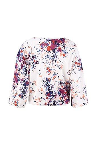 Purple Manica V Elegante Autunno Camicetta 4 Neck Casual Modello Bluse Baggy Donna Chiffon Shirts 3 Primaverile Accogliente Ragazza Fiore Chic Fashion Tops wI0pqgq1tx