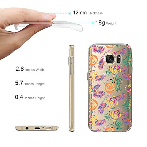 Galaxy Sottile Met Edge S7 Ultra Tpu Fioritura Modello Silicone Caso Custodia 1HgxqH