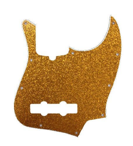 (D'Andrea Jazz Bass Pickguards for Electric Guitar, Gold Sparkle)
