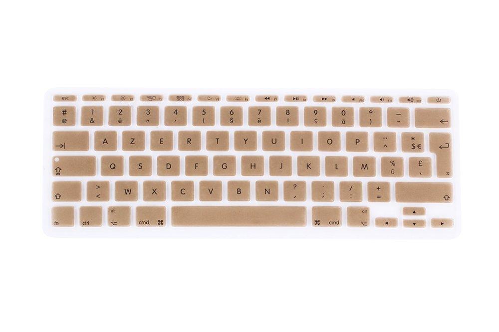 Qingsun Franç ais Clavier Coque de Protection, Housse de protection en Silicone pour MacBook Air 11' EU/ISO Keyboard Disposition, Noir Housse de protection en Silicone pour MacBook Air 11 EU/ISO Keyboard Disposition