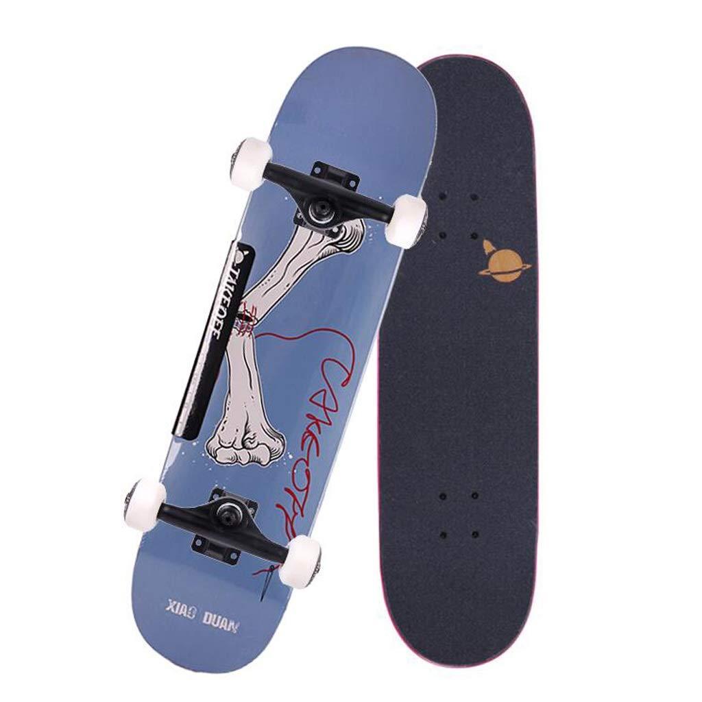 HBJP Brush Street Professionelle Einsteiger Vierrad-Highway-Doppel-Rocker-Jugend-Scooter-Jungen und -Mädchen Skateboard (Farbe   A) B07QC5RCG6 Skateboards Super Handwerkskunst
