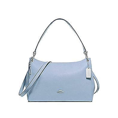 ee583d7d09 Coach Leather Mia Shoulder Crossbody Purse - #F28966 - Blue/Silver ...