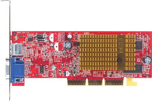 Photo - Micro-Star RADEON 9250 8XAGP 128MB-ATI RADEON9250 TV OUT VGA ( RX9250-T128 )