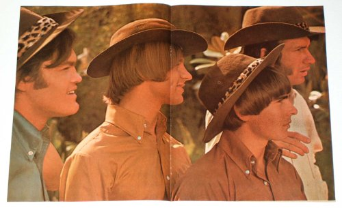 - THE MONKEES SAFARI CENTERFOLD POSTER 1967 Teen Pin-up Pinup DAVY JONES Double-Page Magazine Photo Clipping