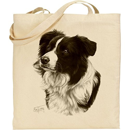 Mike Sibley Border Collie Cotton Natural Bag