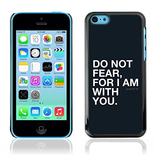 DREAMCASE Citation de Bible Coque de Protection Image Rigide Etui solide Housse T¨¦l¨¦phone Case Pour APPLE IPHONE 5C - ISAIAH 41:10 DO NOT FEAR, FOR I AM WITH YOU