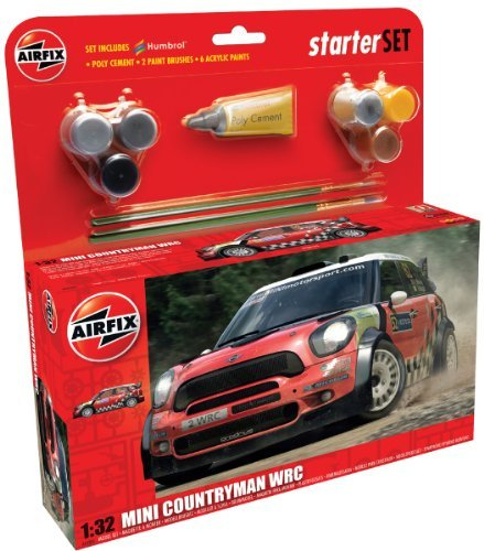 Airfix 1:32 Mini Countryman WRC Large Starter Race Car Model Set by -