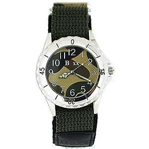 Reloj BOXX Chico-Hombre Camuflaje Ejercito Verde con Correa Velcro