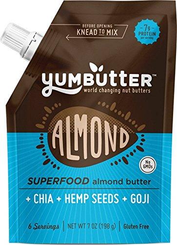 Yumbutter Superfood Almond Butter, 7 Ounce