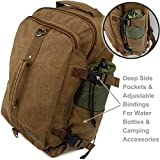 Montera-Vintage-Canvas-Backpack-Heavy-Duty-Casual-Daypack-Rucksack-Best-For-Travel