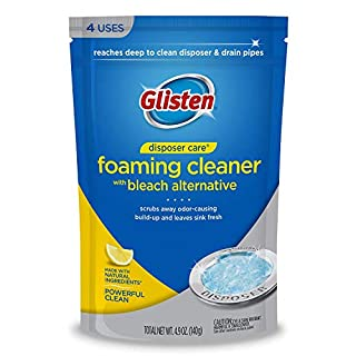 Glisten Disposer Care Foaming Cleaner, Lemon Scent, 8 Use