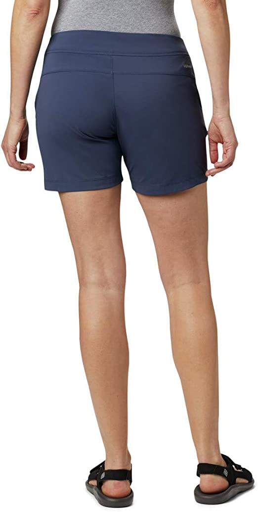 Details about  /Columbia Outdoor Shorts Blue Womens Athletic Elastic Activewear Hiking Casual Md