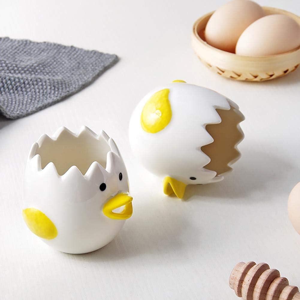 utensilios de cocina para el hogar para ni/ños ama de casa diversi/ón Getherad separador de yema de huevo blanco Separador de huevos de gallina de huevo de cer/ámica para cocina