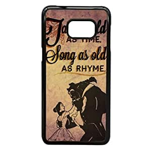 Samsung Galaxy S6 Edge Plus case (TPU), tale as old as time song as old as rhyme Cell phone case Black for Samsung Galaxy S6 Edge Plus - FGHJ8964077