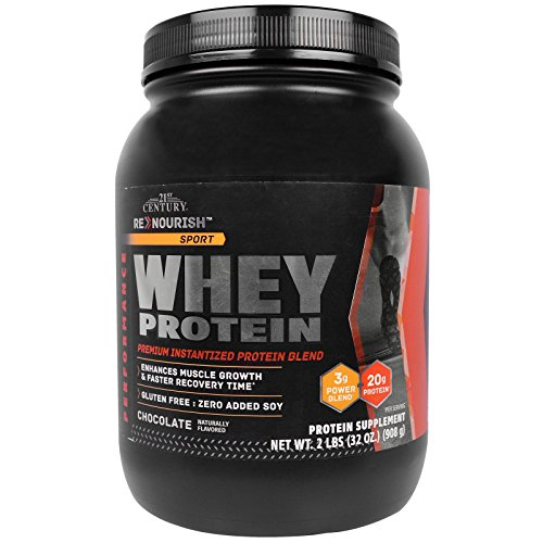 21st Century Renourish Sport Protein Powder, Chocolate, 2 Pound For Sale