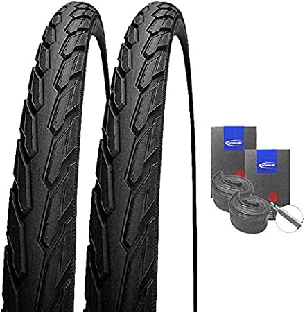 TWO HIGH QUALITY GREY AND YELLOW  STREET TIRES 47-559 26X1.75 TIRES