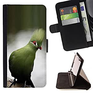 Jordan Colourful Shop - Blue Parrot Tropical Lake Water Branch For Sony Xperia M2 - Leather Case Absorci???¡¯???€????€????????&