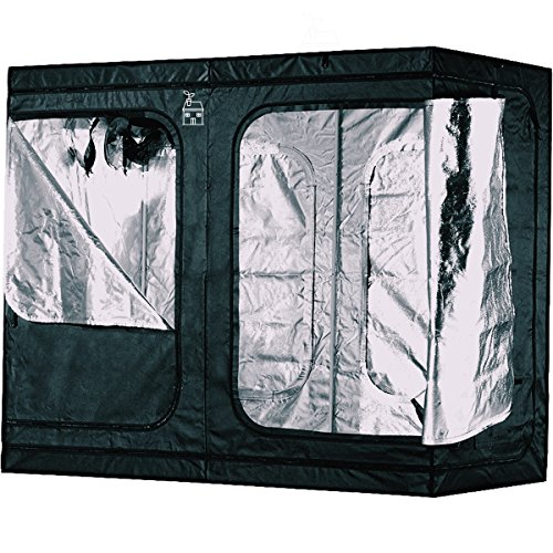 $189.40 indoor grow tent reviews Plant House Compact Heavy Duty Hydroponic Indoor Plant Grow Tent | Anti-Burst Zipper Technology | Holds up to 110lbs from Ceiling | 100% Lightproof Design | Upgraded BoPET Film for 98% Reflectivity 2019