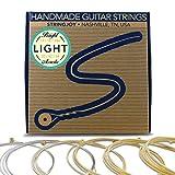 #6: Stringjoy BB1254 Handmade Bright Brass Acoustic Guitar Strings, (Light Gauge - 12-54)