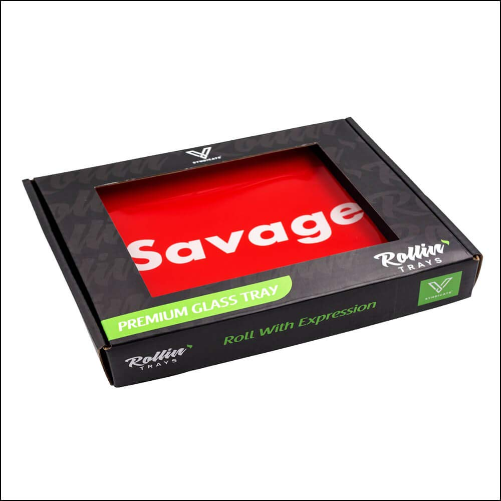 Small Savage Durable HIGH-Grade Glass Rolling Tray