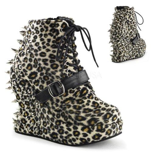 Demonia - Sandalias de vestir para mujer Multicolor Leopard