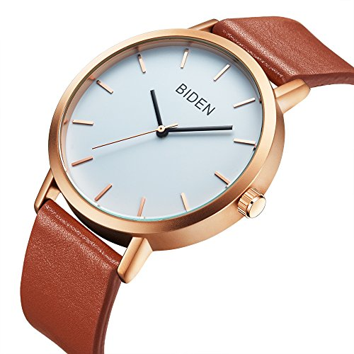 Mens Watches,Womens Watch,Mens Simple Fashion Casual Leather Waterproof Analog Quartz Dress Wrist...