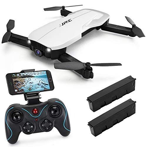 JJRC H71 FPV Drone with 1080p HD Wi-Fi Camera Live Video Feed 2.4GHz 6-Axis Gyro RC Quadcopter for Kids & Beginners, Optical Flow Position Altitude Hold, One Key Start, Foldable Arms, White
