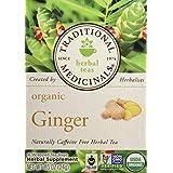 Traditional Medicinals Organic Ginger Herbal Tea, 16 Tea Bags (Pack of 1)